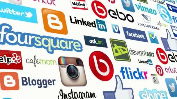 Sociální Media Logo smyčka