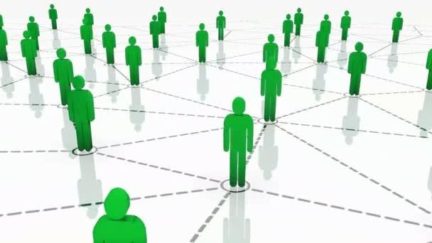 3d lückenhaftes menschliches Netzwerk