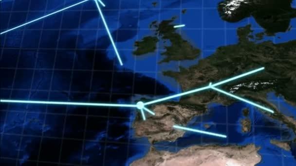 Verkürzte globales Netzwerk-Animation