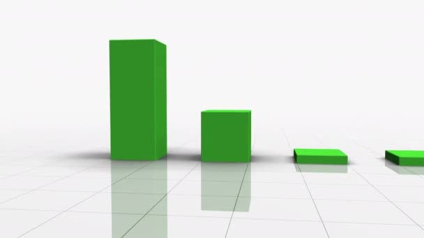 Falling Bar Graph in GREEN With Arrow