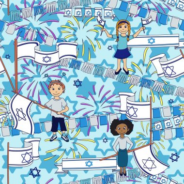 Israel Independence Day background