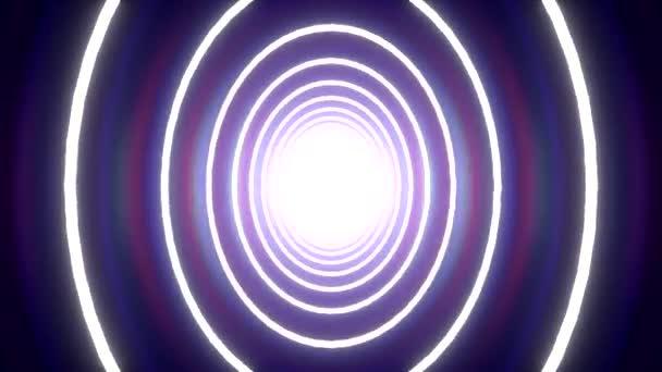 Imbolygó alagút kör háttér kék