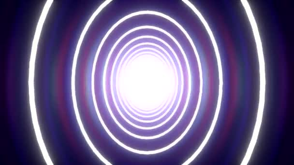 Wobbling tunnel circle background blue