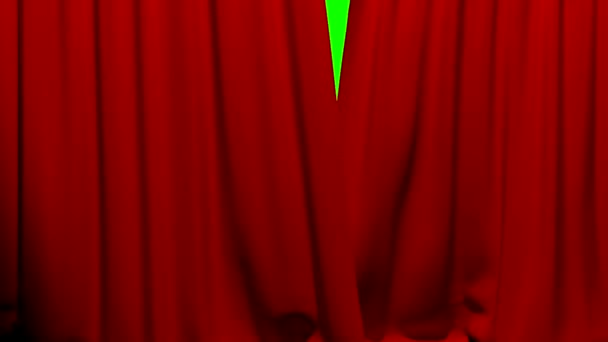 Curtains opening and closing stage theater cinema red green screen key
