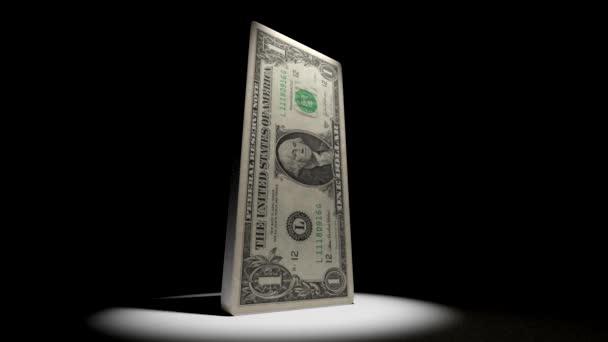 Deflationsanimation des Dollars