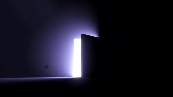 Dveře otevřené jasné světlo cool Blue nové příležitosti epiphany posmrtný život