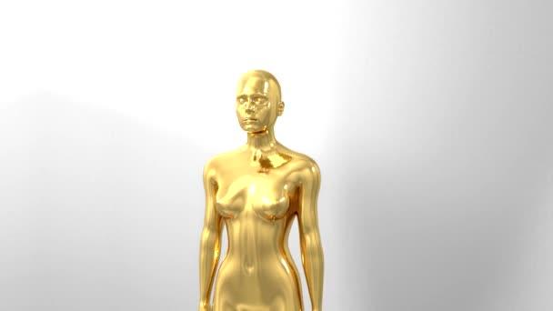 Trofej ocenění obřad intro s prostorem pro titul text nominace gold lady