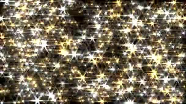 Třpytky pozadí smyčky zlata a stříbra objektivu flare jiskru závěs