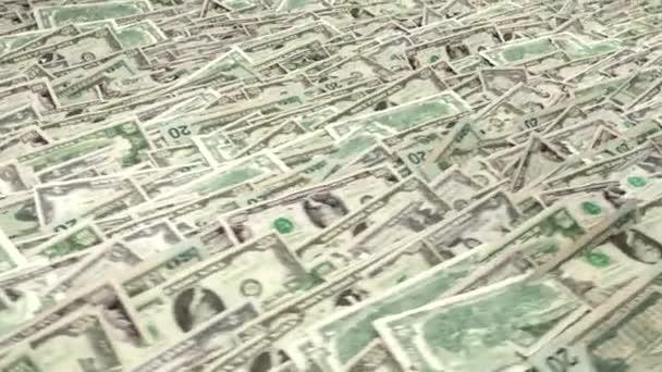 Hromady peníze komíny dolarů finanční nás měny daňové bezešvá smyčka 2 světlejší