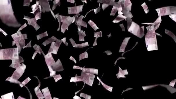Euróban euró pénz alá tartozó pénzügyi nyer minket valuta adó fekete háttér