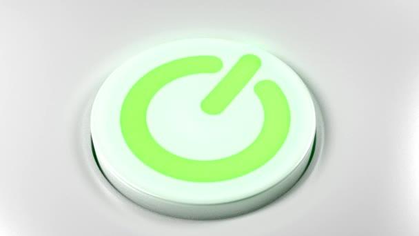 Tlačítko vypínače vypnout zelené