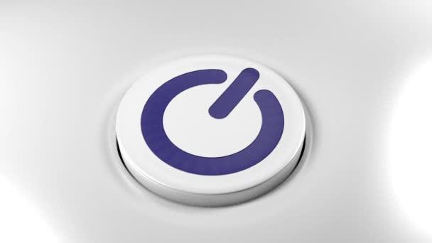 Tlačítko vypínače zapněte modrá
