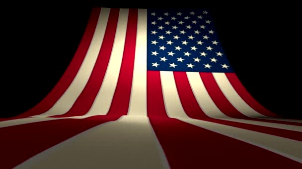 USA US American Flag Curving Upward Stars and Stripes Large Big