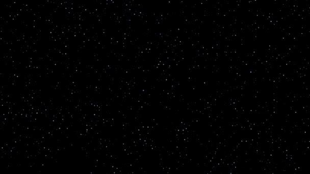UFO sziluett pislákoló csillagok