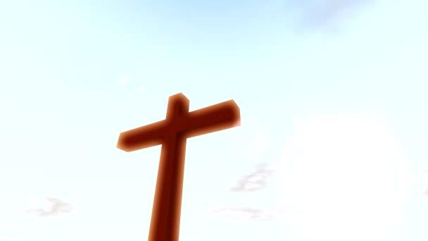 Idő telik el felhők feszület kereszt és a keresztény nap