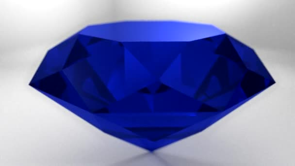 Sapphire blue diamond gemstone gem stone spinning wedding background loop