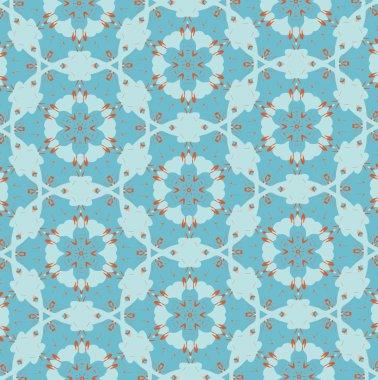 Orange patterns on a blue background. 4