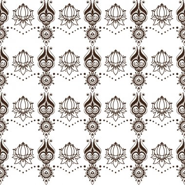 Contrasting seamless pattern.