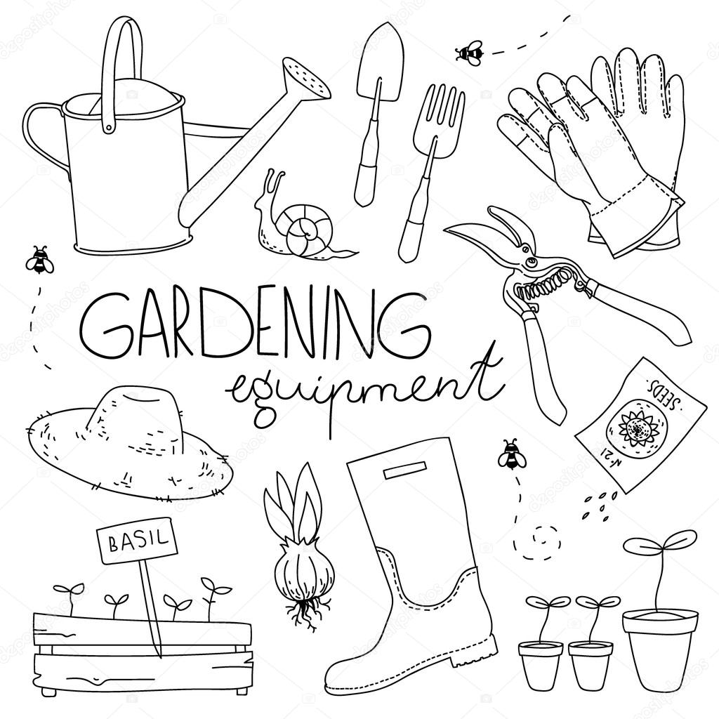 Gardening equipment Stock Vector Alexandriaandco 69249413