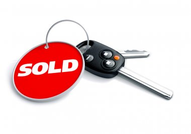 Car keys with keyring and Car Sold