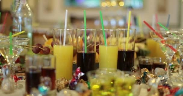 Restaurant. Table. Buffet. Drinks.
