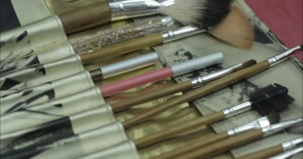 Cosmetics. Brushes. Close-up.