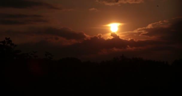 krásný západ slunce
