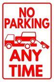 Fotografie Schild kein Parkplatz - jederzeit