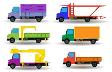 Collection of flat trucks
