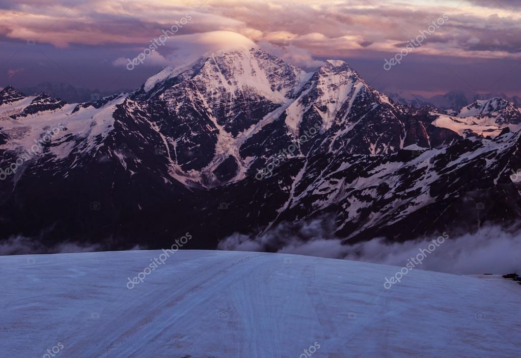 Aiguille du Midi mount in french alps