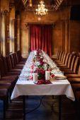 Fotografie stolní set pro svatební či druhého zajištěný událost večeře