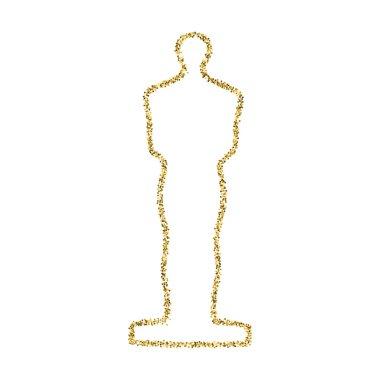 Golden statue glitter icon.