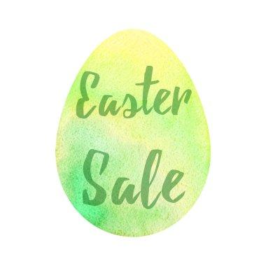 Elegant watercolor Easter greeting card