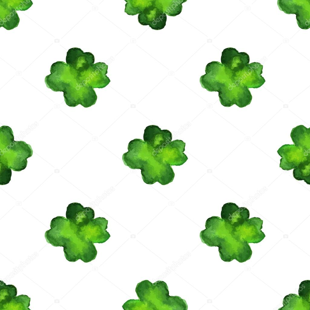 Seamless pattern with four leaf clover