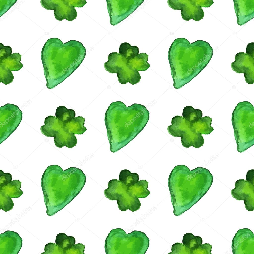 pattern with clover and heart shapes