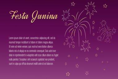 Festa Junina elements