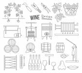 Photo Wine making and wine tasting design elements