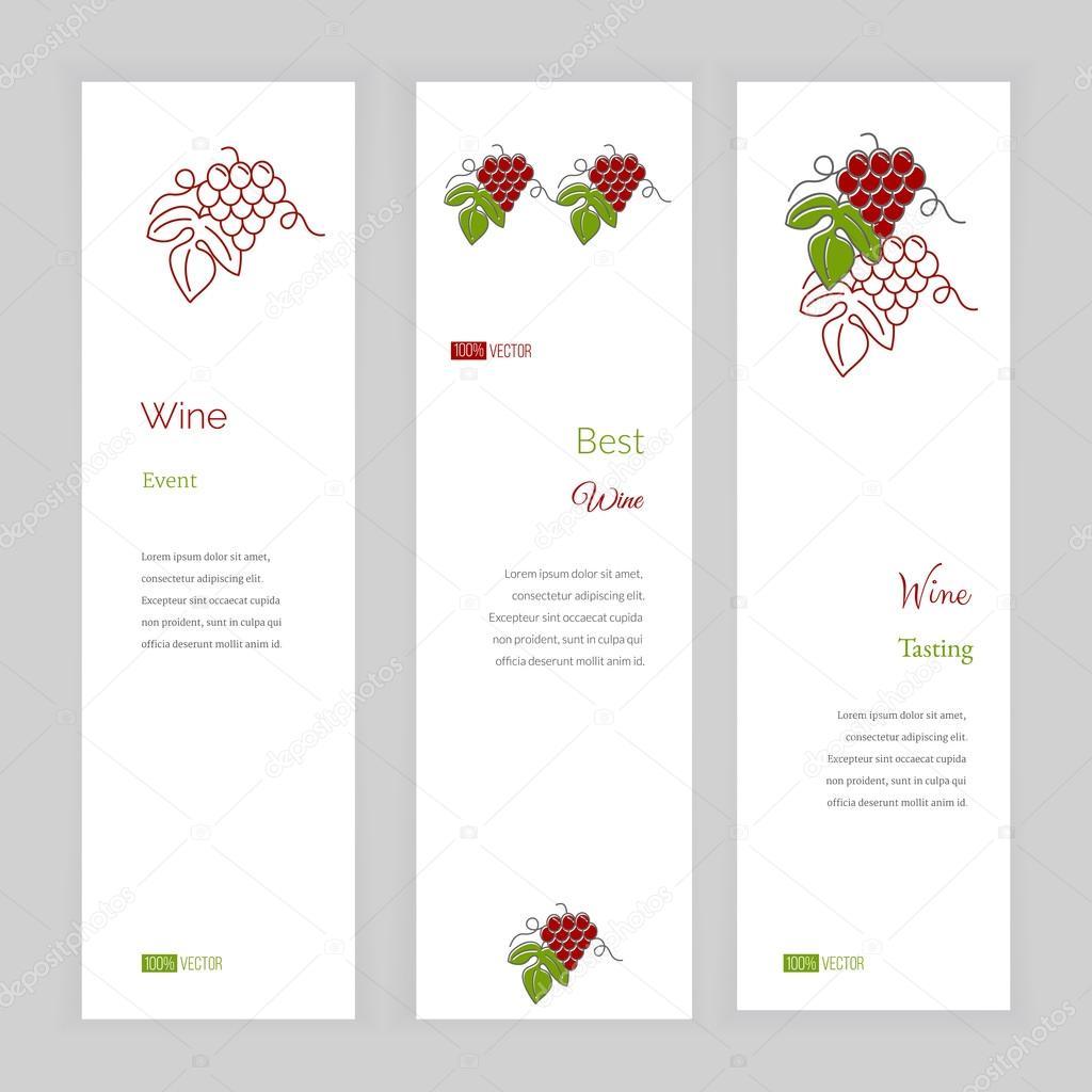 Modle De Bannire Avec Logo Pour Restaurant Caf Bar Ou Restauration Rapide Concept Lindustrie Vinicole Faisant Compagnies Et Vin