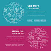 Fotografia Website landing page template for wine industry