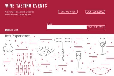 Website landing page template for wine industry