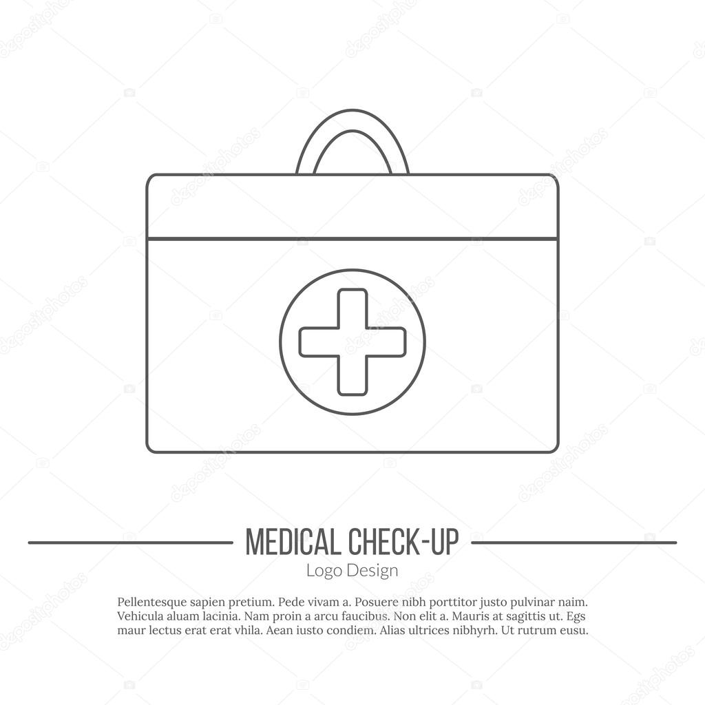 Medical diagnostic, checkup graphic design concept — Stock Vector ...