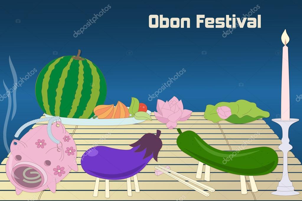 Japanese summer Bon Festival, Obon, background.