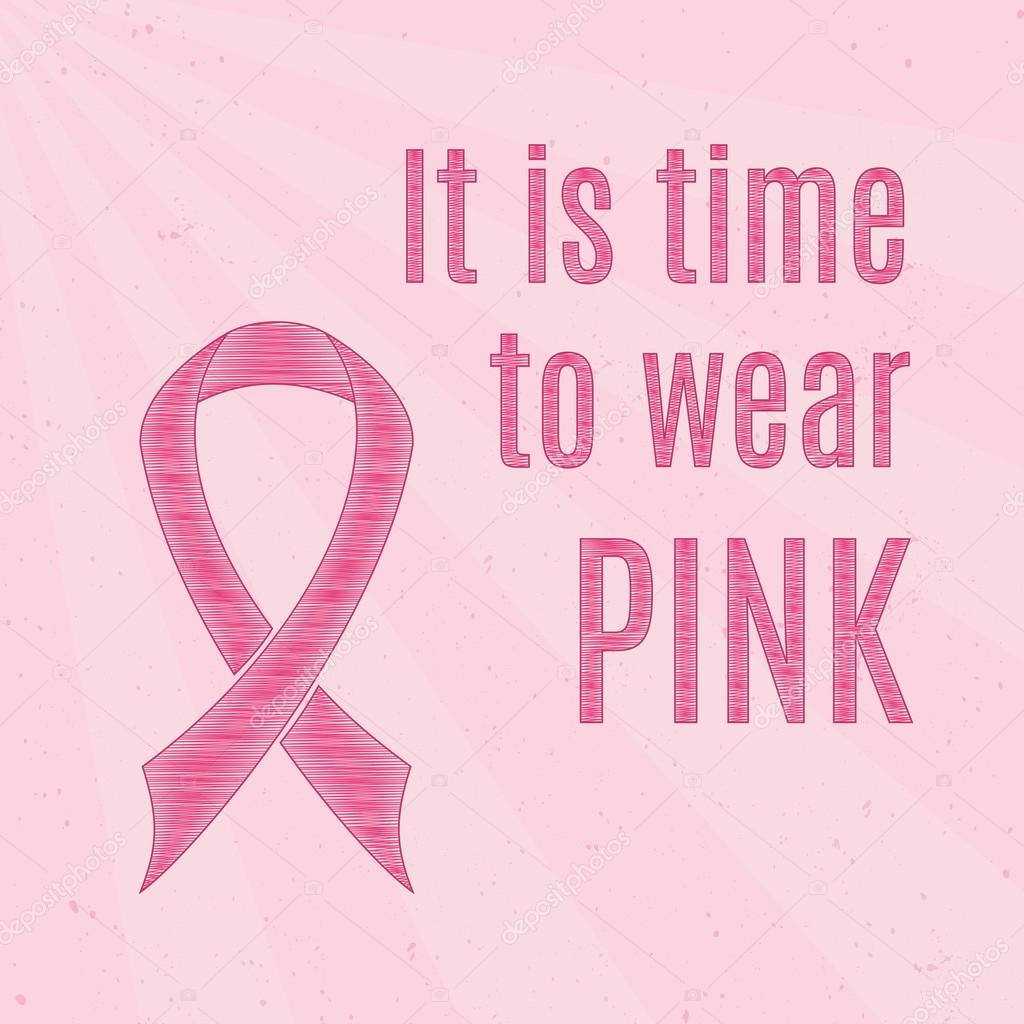 Breast Cancer Inspirational Quotes Pink Breast Cancer Awareness Ribbon With Inspirational Quotes