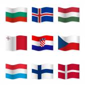 Fotografie Waving flags of different countries 6