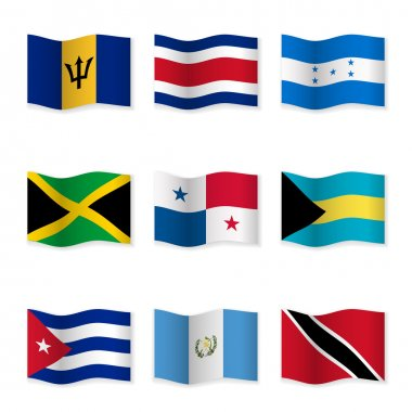 Waving flags of different countries 9