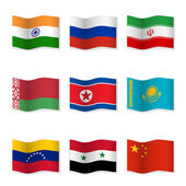 Fotografie Waving flags of Russian ally countries