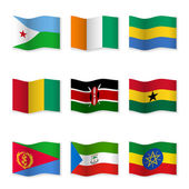 Fotografie Waving flags of different countries