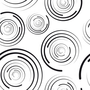 Concentric circles seamless pattern