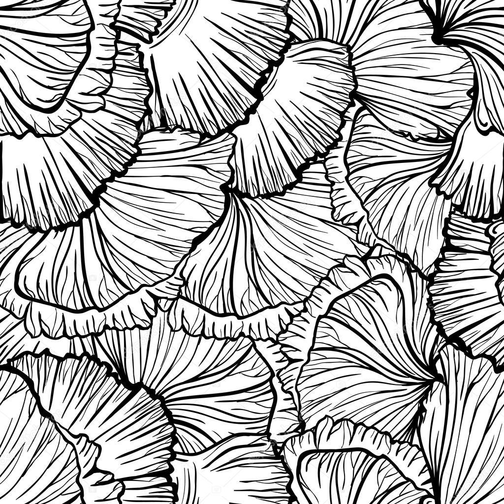 Poppy seamless pattern.