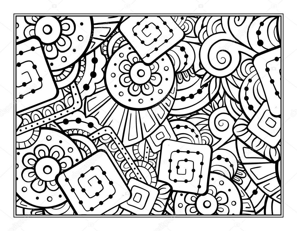 Fantasie dekorativ Malvorlagen — Stockvektor © Sablegear #93310386